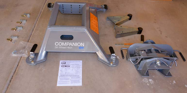 B&W Fifth wheel hitch assembly pieces