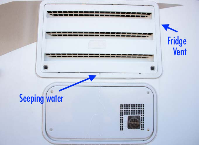 How to defrost an RV fridge water dripping from refrigerator vent on outside of trailer