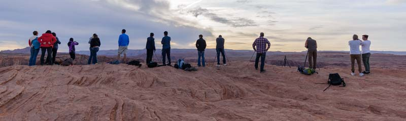 Photographers at Horseshoe Bend Overlook Arizona