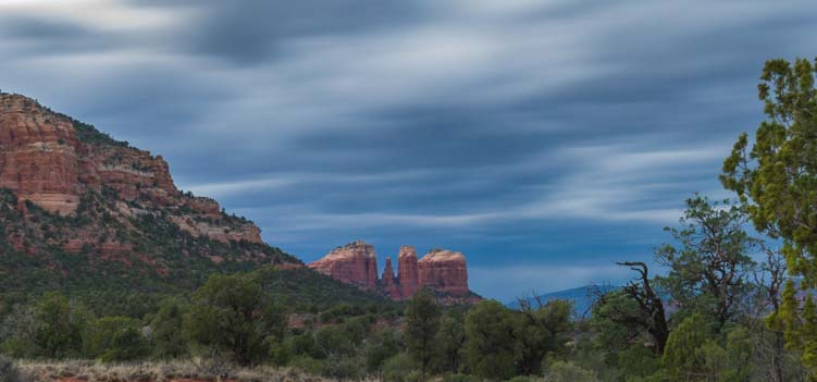 Cathedral Rock stormy sky Sedona Arizona