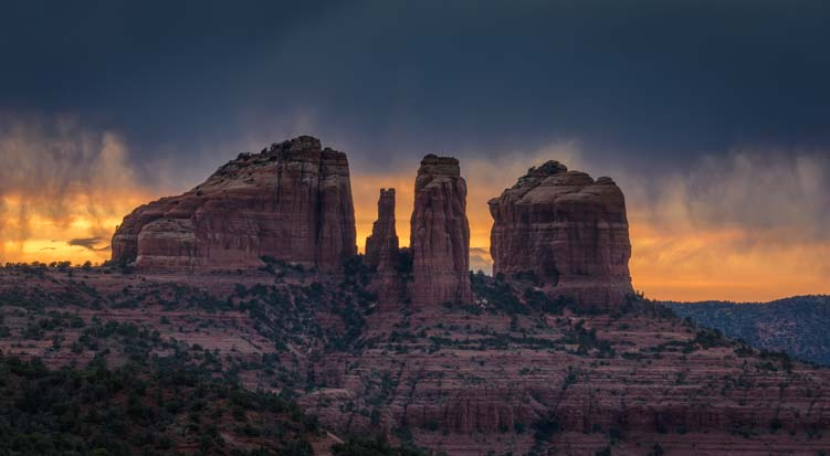Cathedral Rock at sunset Sedona Arizona