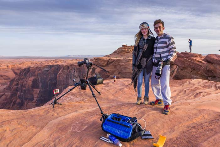 Videographers at Horseshoe Bend Arizona