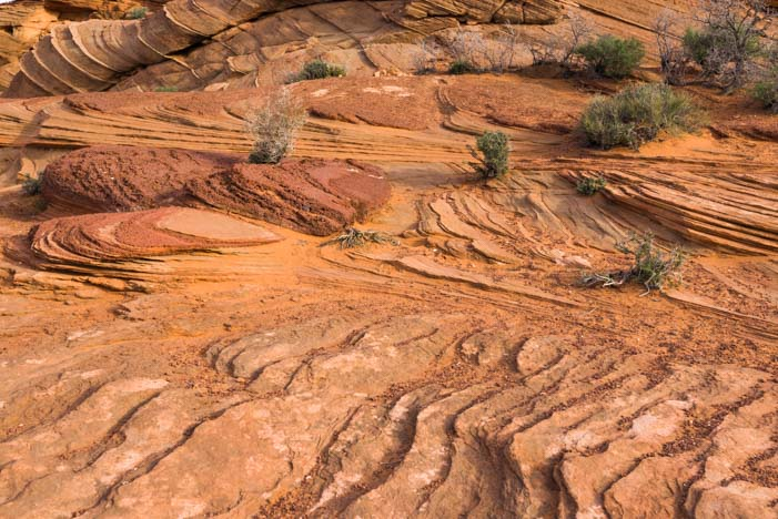 Lines in the rocks Horseshoe Bend Arizona