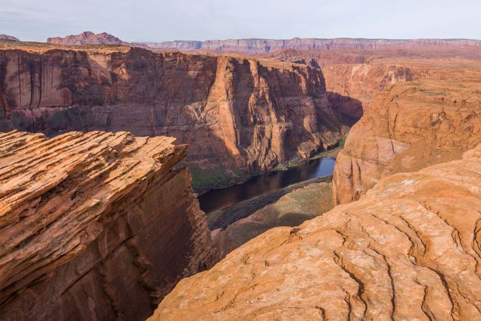 Rock crevices Horseshoe Bend Arizona