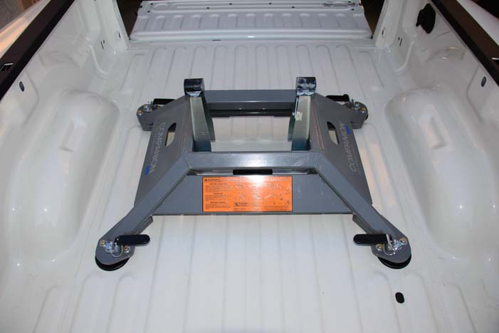 B&W Companion OEM fifth wheel in truck bed