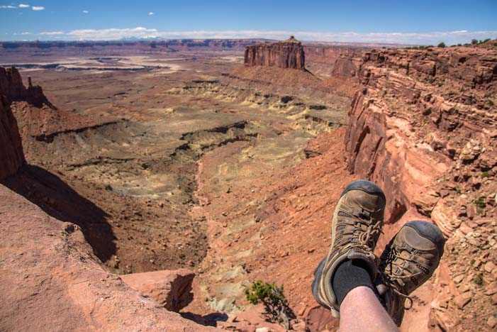 Hiking boots Canyonlands Island in the Sky District Utah