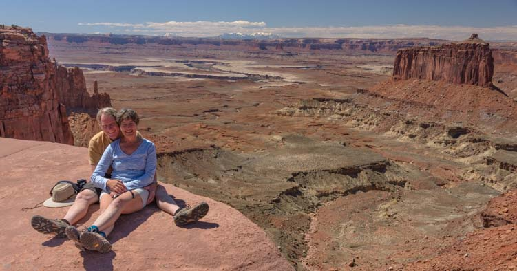 Hiking Canyonlands National Park Island in the Sky Utah camping