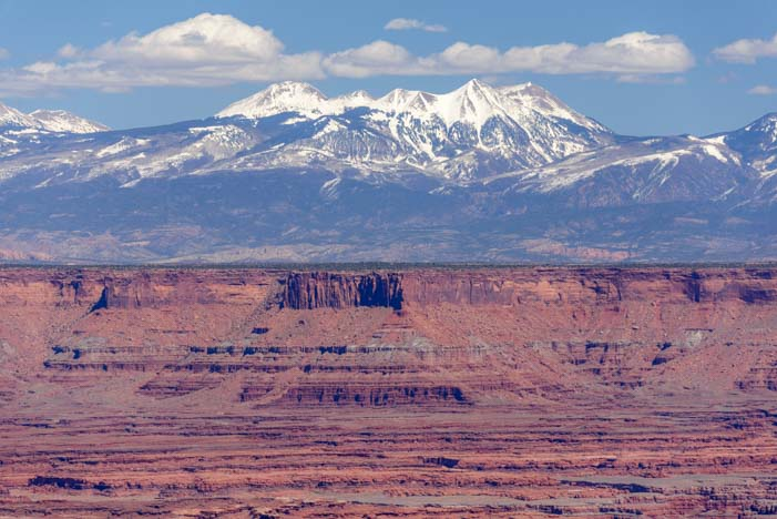 Utah Canyonlands National Park La Sal Mountains Island in the Sky