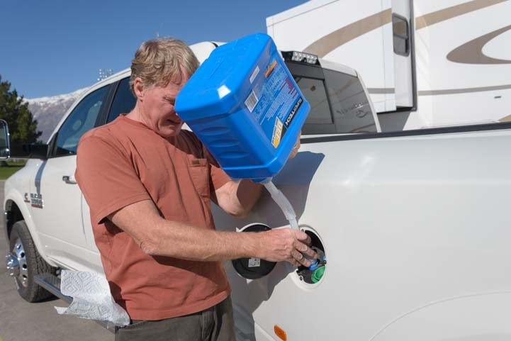 How to put Diesel Exhaust Fluid (DEF) in a truck without spilling