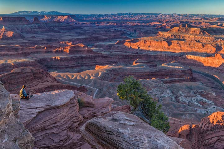 Overlooking Dead Horse Point State Park Utah Before Dawn