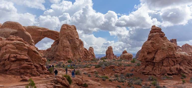 People at Arches National Park Utah