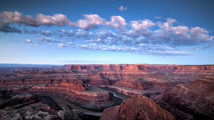 Dead Horse Point State Park at dawn Utah