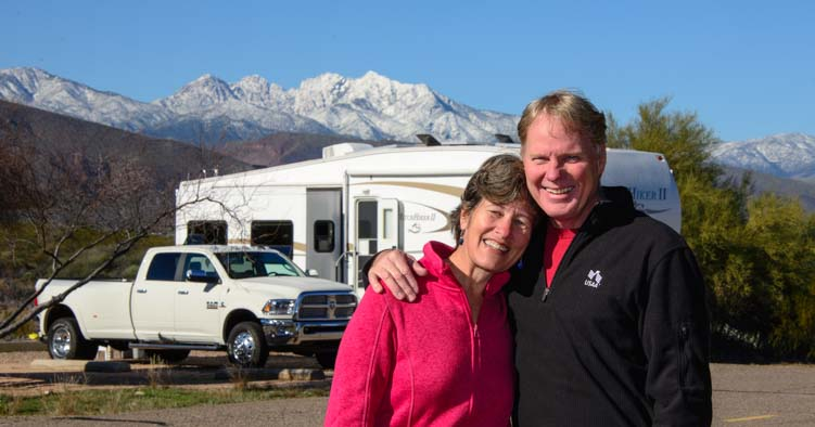 Happy campers in the full-time RV lifestyle