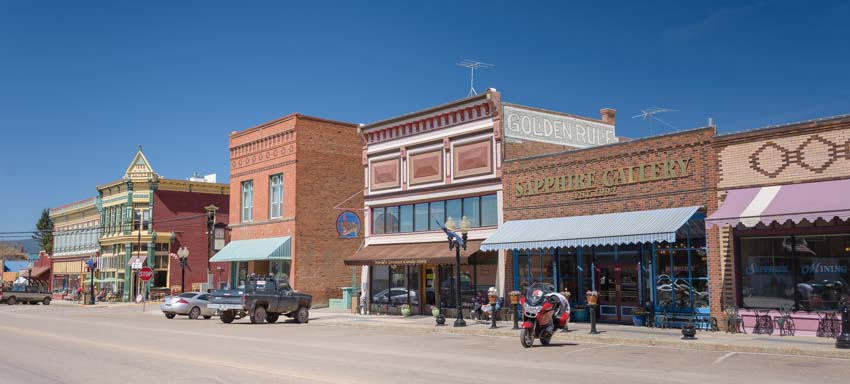Main street buildings of Philipsburg Montana