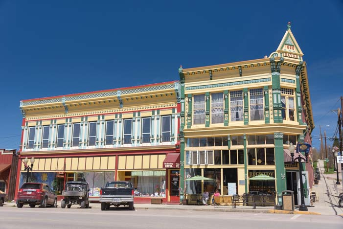 Philipsburg Montana cute main street and pretty buildings