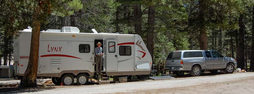 RV camping Mammoth Lakes California