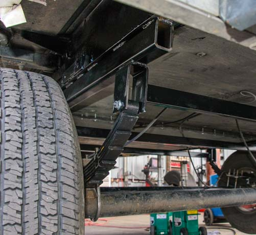 New trailer leaf spring and leaf spring hangers