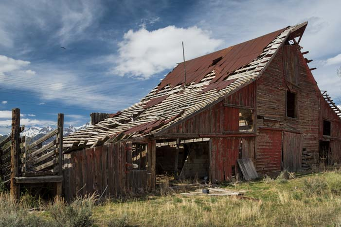 Crumbling Barn in Mackay Idaho