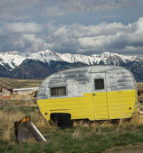 Antique travel trailer RV
