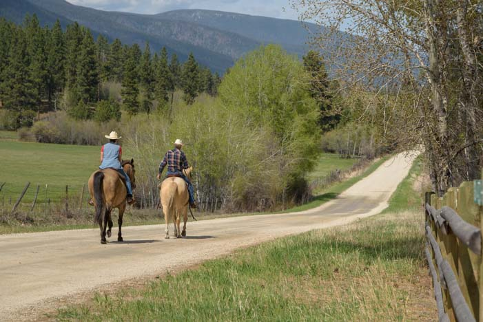 Horseback riding in the Bitterroot Valley