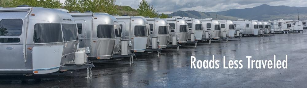 Choosing a full-time RV Airstream Travel Trailers at RV Dealership
