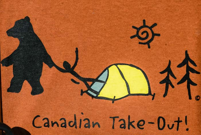 Bear sign Canadian Take-out
