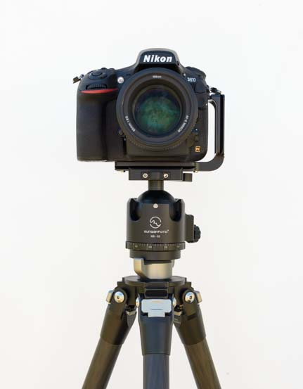 Nikon D810 on Sunwayfoto T2C40C Tripod with XB-52DL ballhead and PNL-D810R bracket