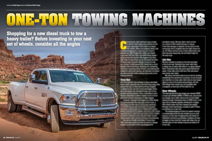 Trailer Life Magazine Choosing a Truck for Heavy Duty Towing
