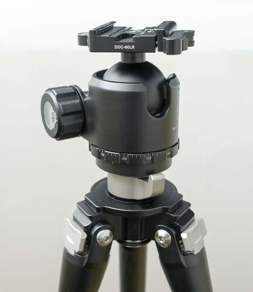 Sunwayfoto XB-52DL Ballhead with T2C40C Tripod and DDC-60LR Quick Release Clamp