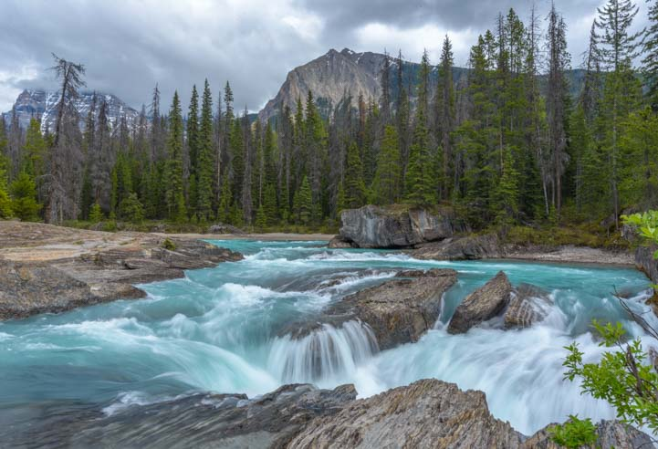 Natural Bridge Yoho National Park British Columbia Canada Rocky Mountains