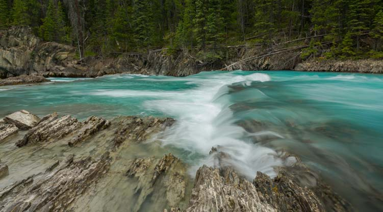 Waterfalls at Natural Bridge Yoho National Park BC Canada