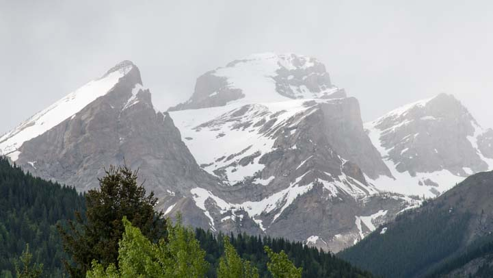 Peaks of Rocky Mountains in British Columbia Canada