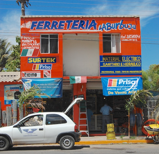 Hardware store on Pacific Coast of Mexico