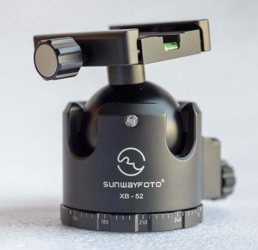 Sunwayfoto XB-52DL Ballhead notches
