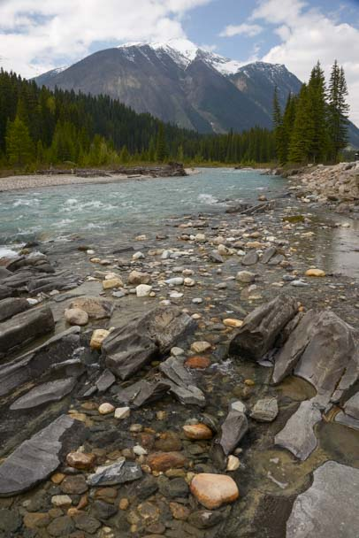 Rocks and stream Kootenay National Park BC Canada