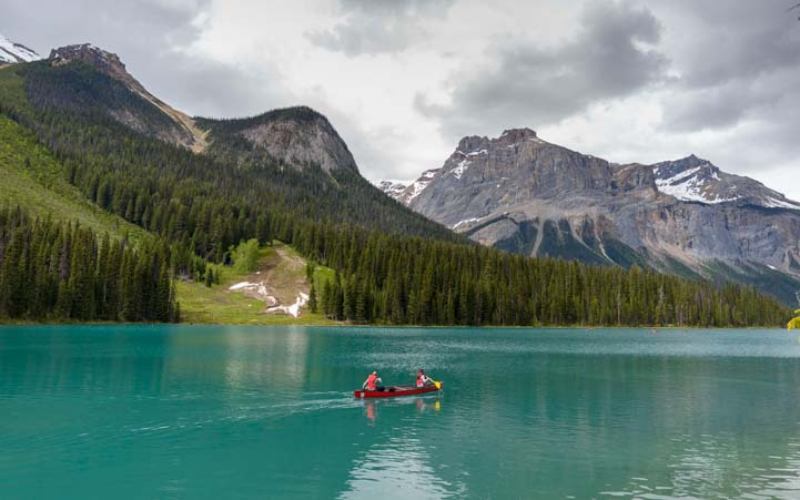 Kayak Emerald Lake Yoho National Park British Columbia Canadian Rockies