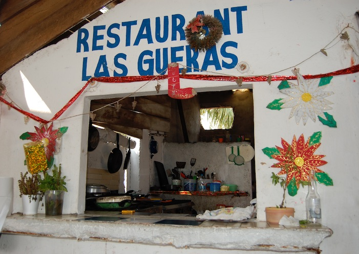 Restaurant at Punta Perula in Chamela Bay Mexico