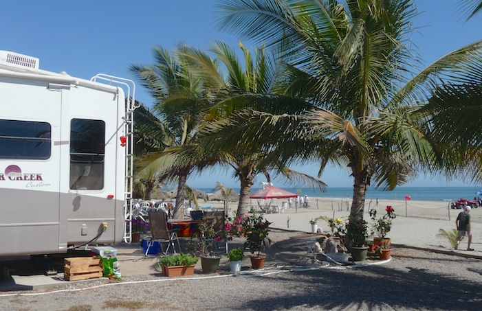 RV on the beach in Mexico