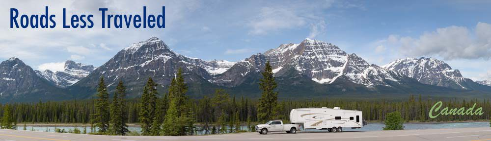 Canadian Rockies RV travel and camping Banff National Park