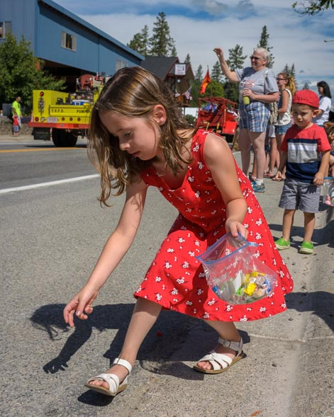 Little girl at 4th of July Parade Troy Montana