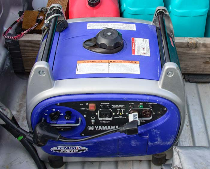 Yamaha 2400i portable gas generator for RV