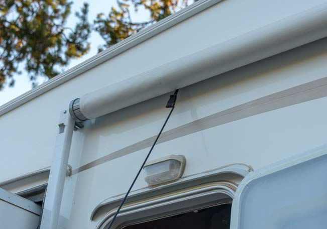 How to set up RV awning - hook awning loop