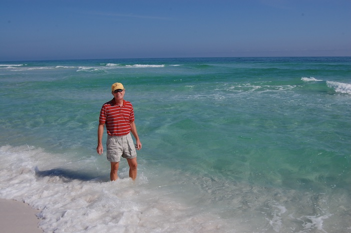 Vivd green water on the Emerald Coast