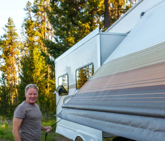 How to set up RV awning - lower awning completely