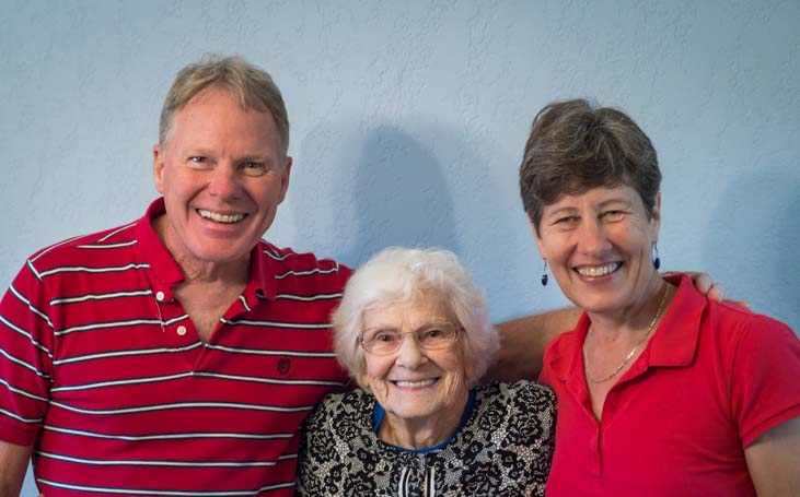 Full-time RV Pioneer Escapees Founder Kay Peterson with Mark and Emily Fagan