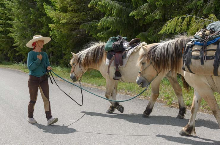 Horses with Bernice Ende the Long Ride Lady in Montana