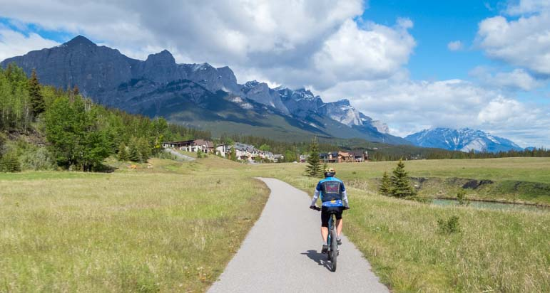 Bicycle trail Canmore Alberta Canada