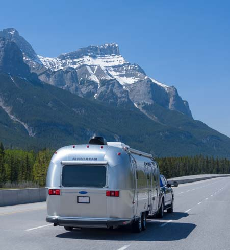 RV travel Banff National Park Canadian Rocky Mountains