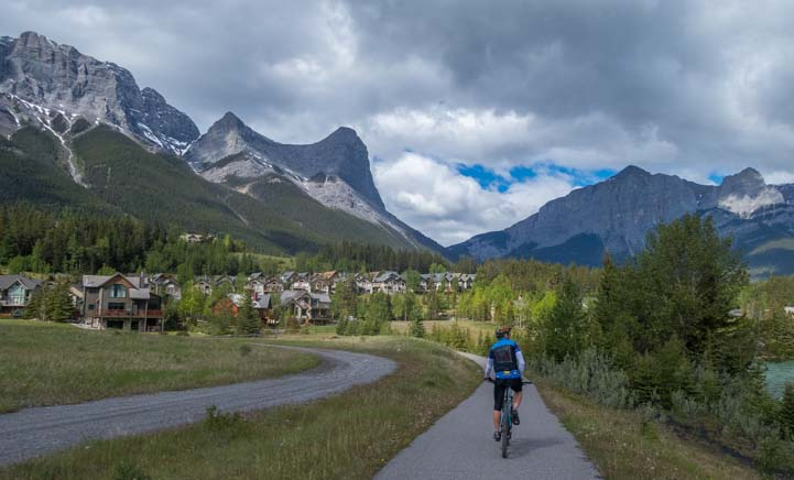 Bike path and walking trail Canmore Alberta Canada