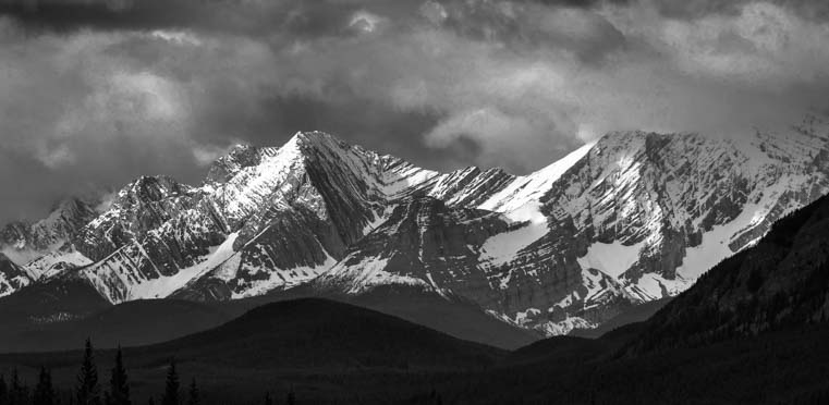 Kananaskis country Rocky Mountains stormy skies